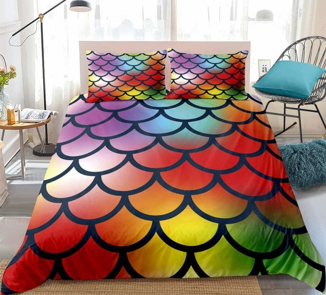 Mermaid Scale Bedding Set - Beddingify