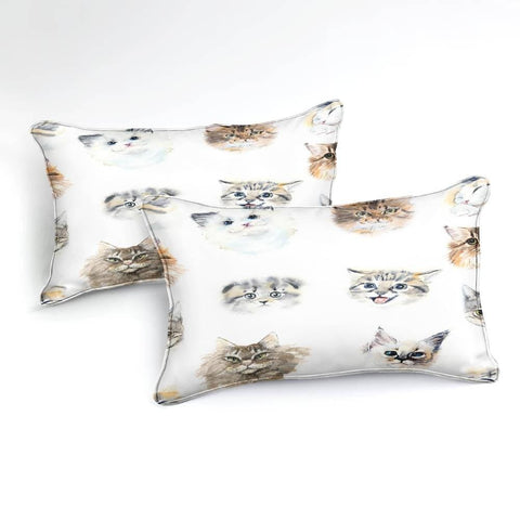 Watercolor 3D Cat Bedding Set - Beddingify
