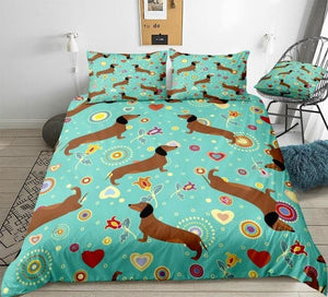 Dachshunds  Bedding Set - Beddingify