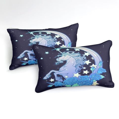 Image of 3D Star and Moon Patterns Unicorn Bedding Set - Beddingify