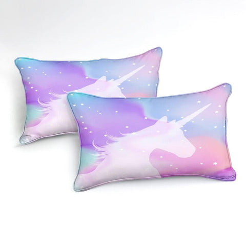 Image of Purple Pink Unicorn Bedding Set - Beddingify