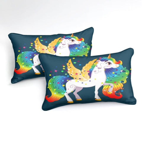Image of Unicorn with Golden Wings Bedding Set - Beddingify
