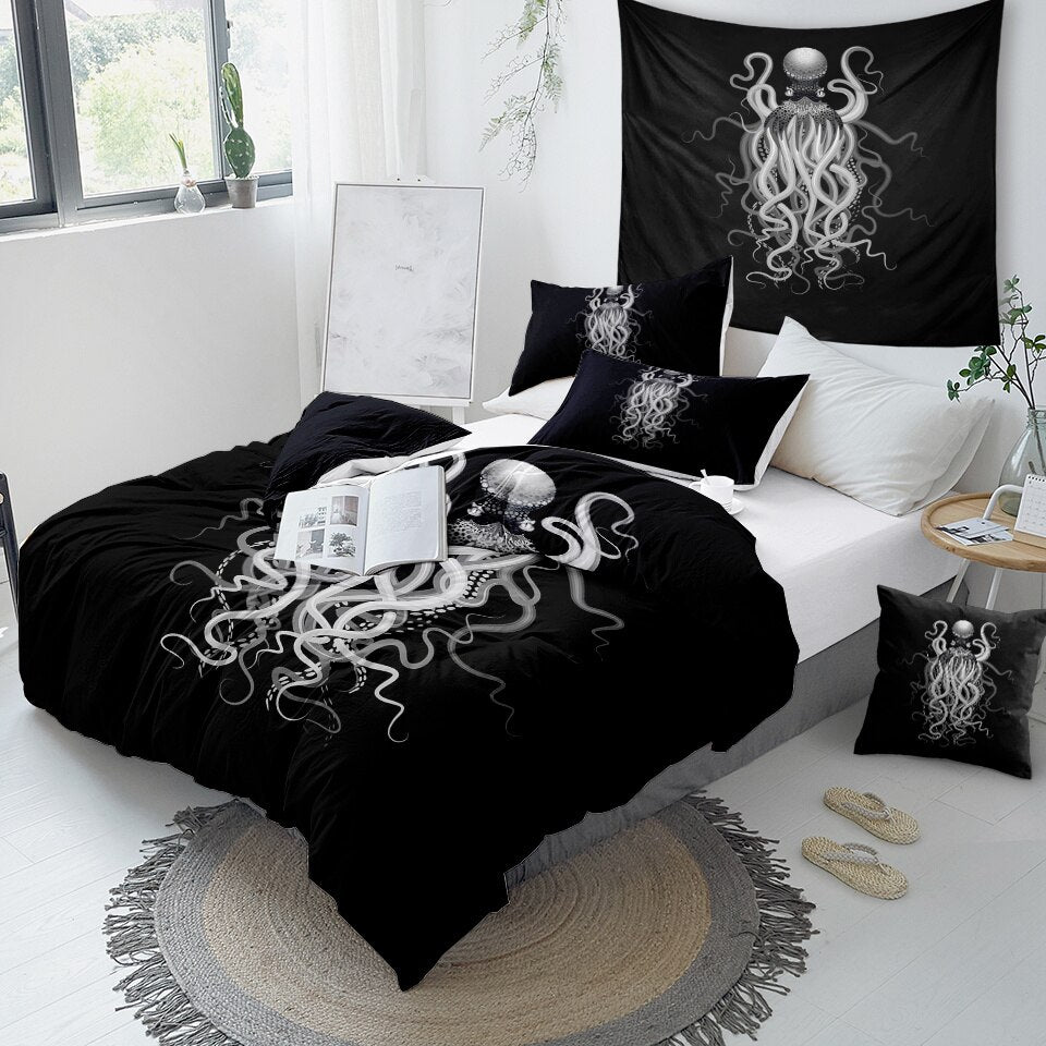 Octopus Ghost Bedding Set - Beddingify