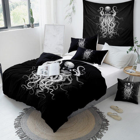 Image of Octopus Ghost Bedding Set - Beddingify