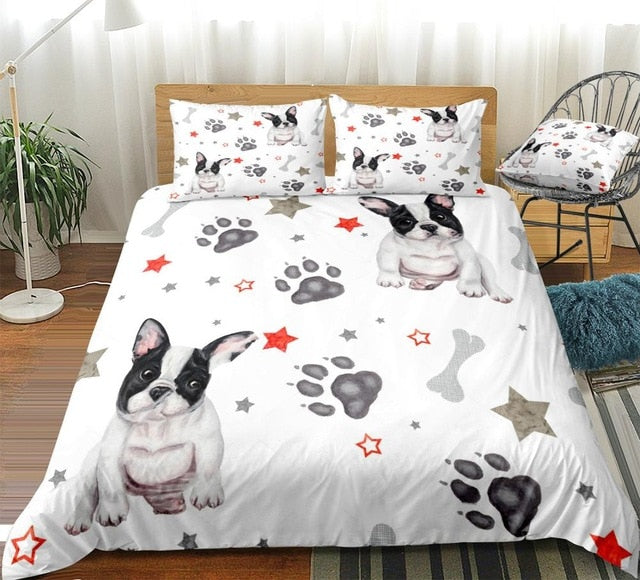 Stars and Dog Paw Bedding Set - Beddingify