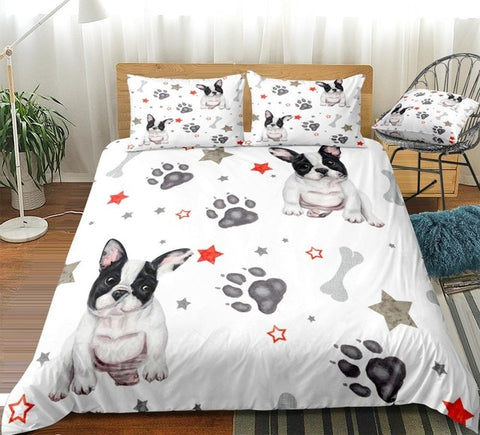 Image of Stars and Dog Paw Bedding Set - Beddingify