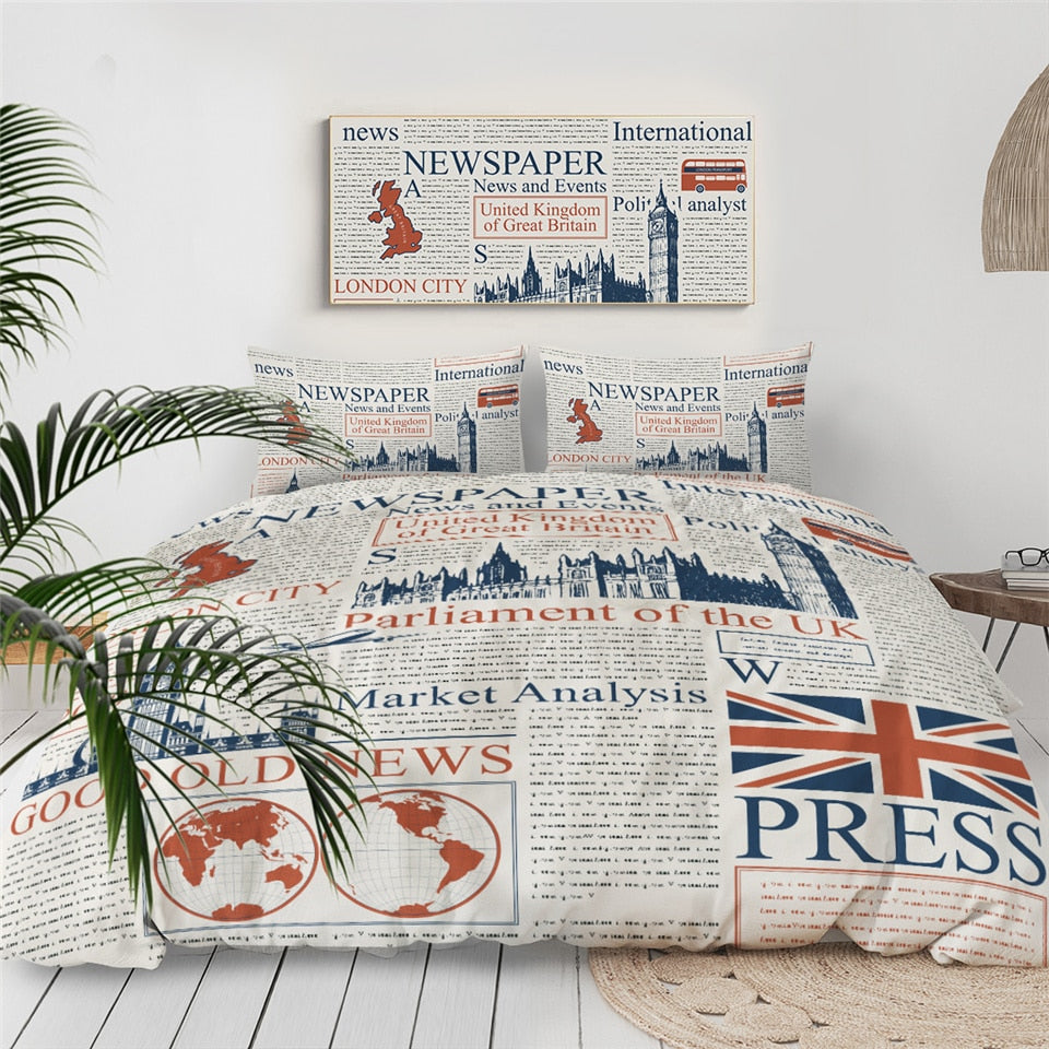 Newspaper Bedding Set - Beddingify