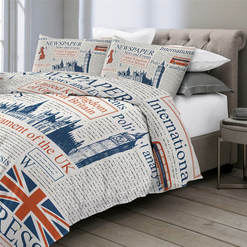 Image of Newspaper Bedding Set - Beddingify