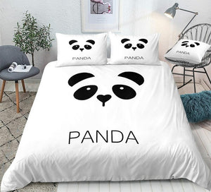 Cute Simple Panda Sign Bedding Set - Beddingify