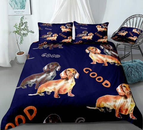 """Good"" Sausage Dog Bedding Set - Beddingify"