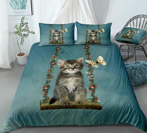 Cat in a Hammock Bedding Set - Beddingify