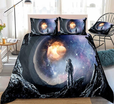 Image of 3D Astronaut Outer Space Bedding Set - Beddingify