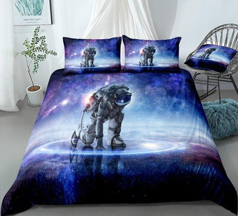 Image of 3D Galaxy Astronaut  Bedding Set - Beddingify