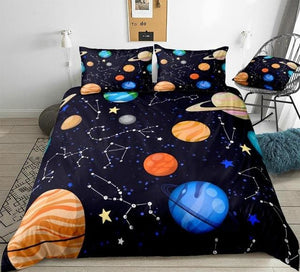 Planets Stars Bedding Set - Beddingify