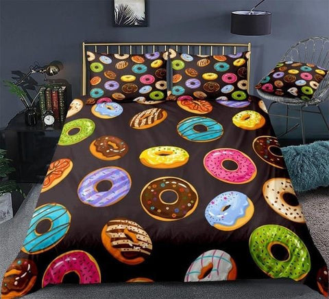 Image of Colorful Donuts Bedding Set - Beddingify