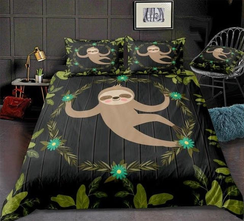 Sloth in Jungle Bedding Set