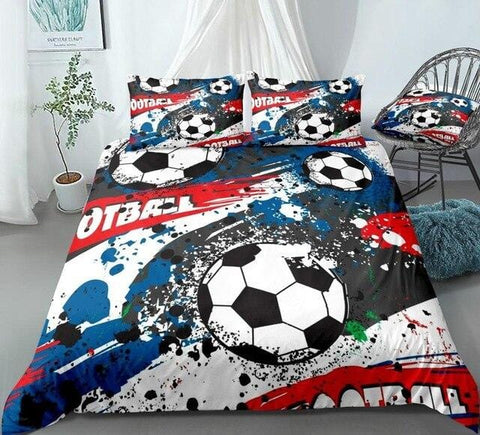 Image of Football Abstract Sports Bedding Set - Beddingify