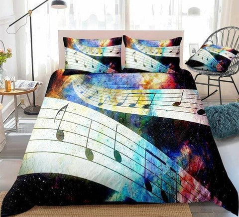 Image of Galaxy Treble Clef Bedding Set - Beddingify