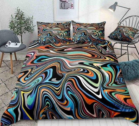 Colorful Marble Abstract Art Bedding Set - Beddingify