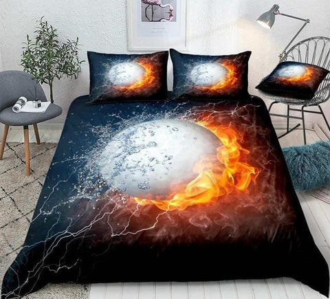 Image of Golf Ball on Fire Water Bedding Set - Beddingify