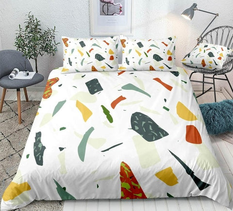 Image of Colorful Marble Bedding Set - Beddingify