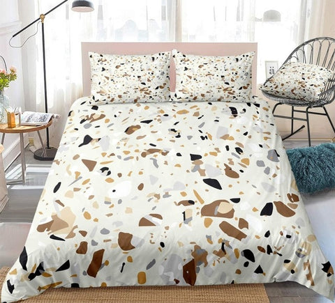 Image of Brown Marble Bedding Set - Beddingify