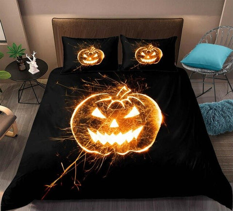 Halloween 3D Pumpkin Lantern Bedding Set - Beddingify