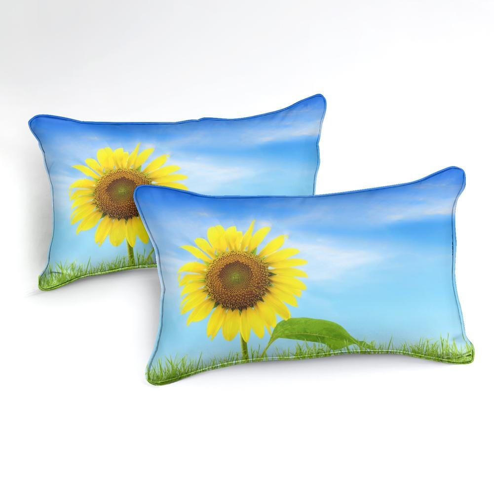 Sky Sunflower Bedding Set - Beddingify