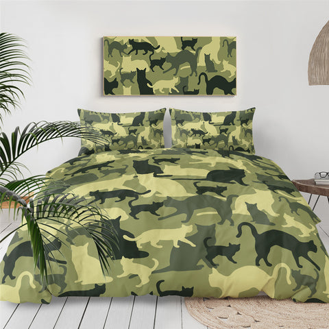 Camo Cat Bedding Set for Kids - Beddingify