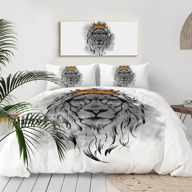 Crowned Lion Bedding Set - Beddingify