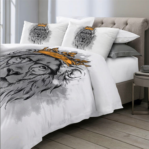 Image of Crowned Lion Bedding Set - Beddingify