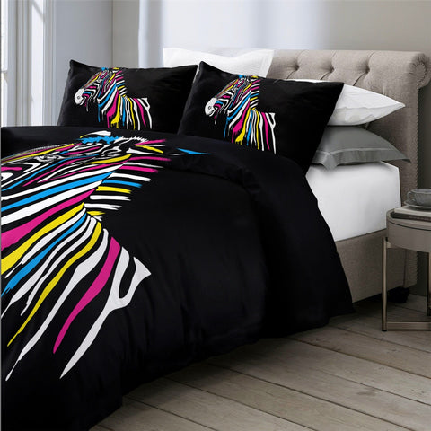Image of Black Zebra Bedding Set - Beddingify