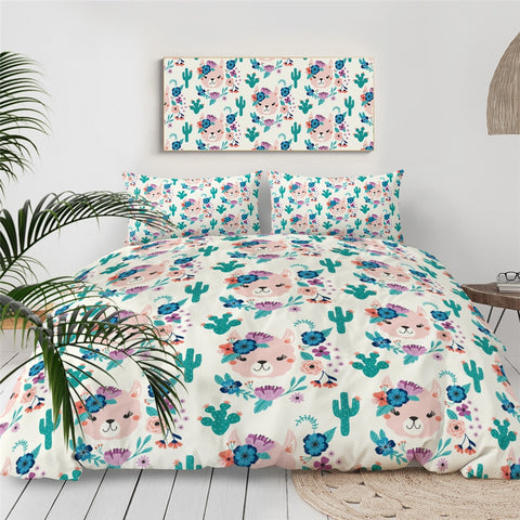 Image of Green Llama Alpaca Bedding Set - Beddingify