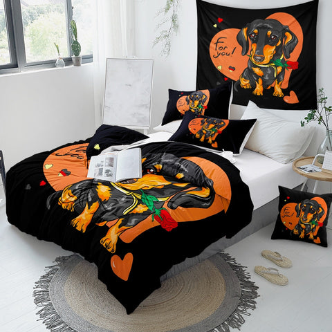 Image of Love Of Dachshund Bedding Set - Beddingify