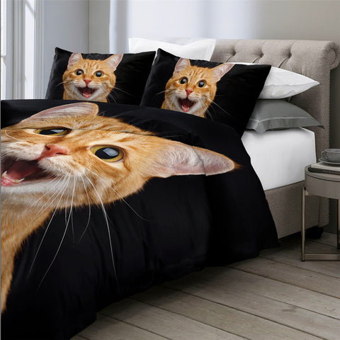 Happy Smiling Cat Bedding Set - Beddingify