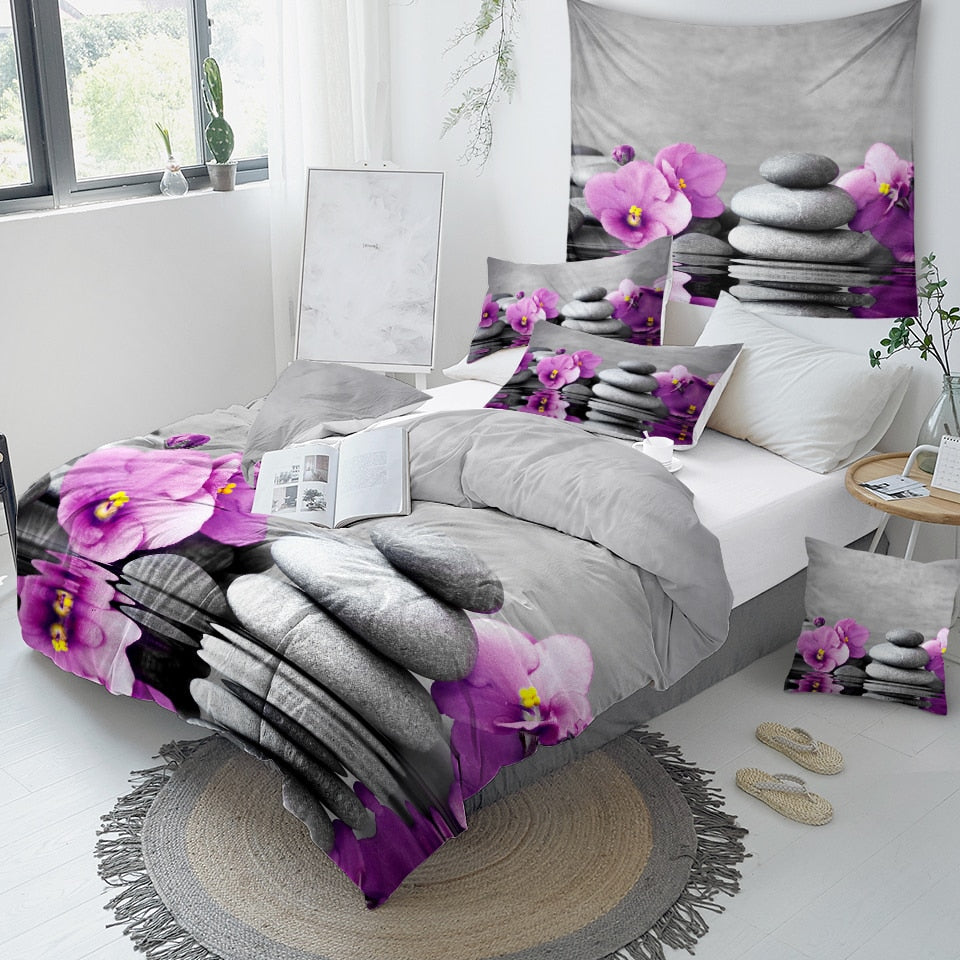 Purple Orchid Bedding Set - Beddingify