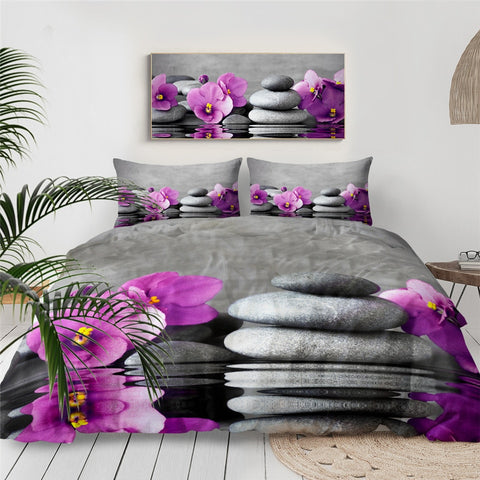 Image of Purple Orchid Bedding Set - Beddingify