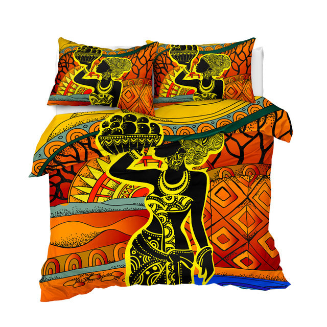 African Girl Art Bedding Set - Beddingify