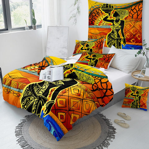 Image of African Girl Art Bedding Set - Beddingify