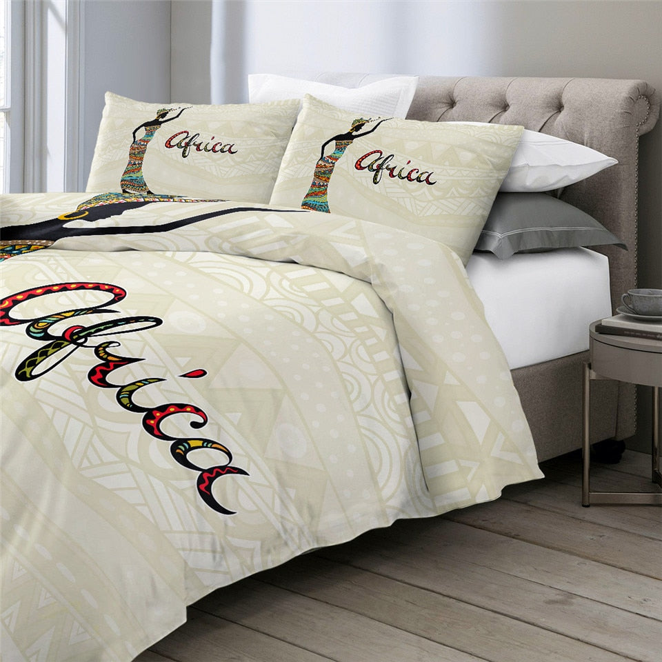 Simple African Girl Bedding Set - Beddingify