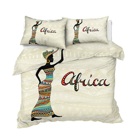 Image of Simple African Girl Bedding Set - Beddingify