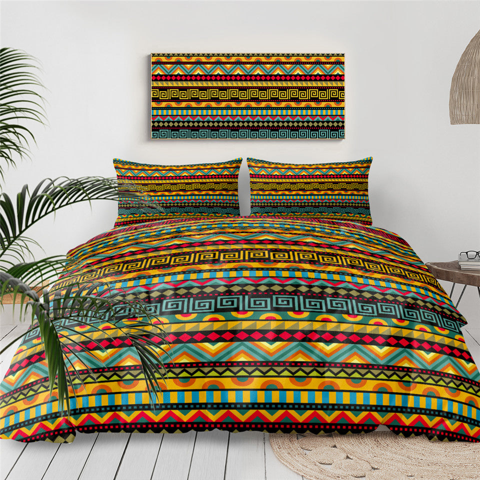 African Aztec Pattern Bedding Set - Beddingify