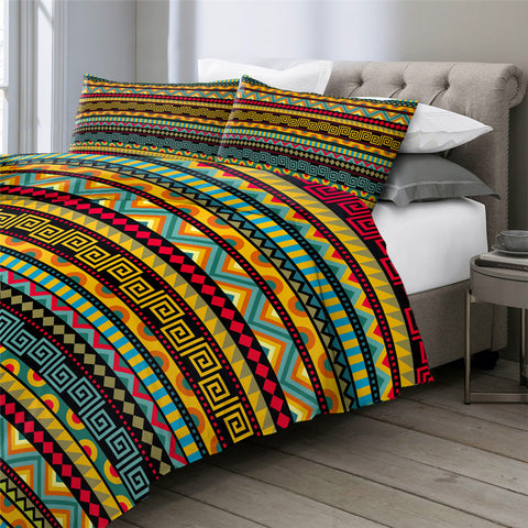 Image of African Aztec Pattern Bedding Set - Beddingify