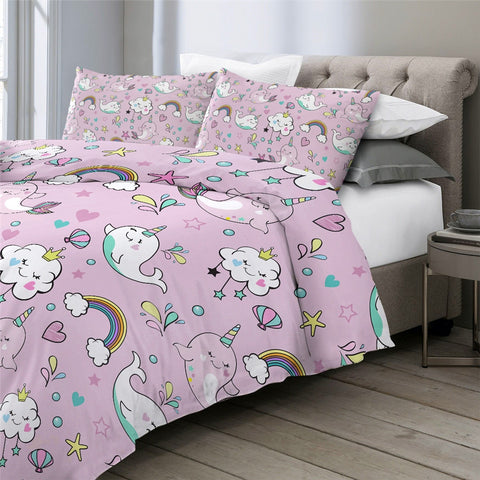Image of Rainbow Underwater World Bedding Set - Beddingify