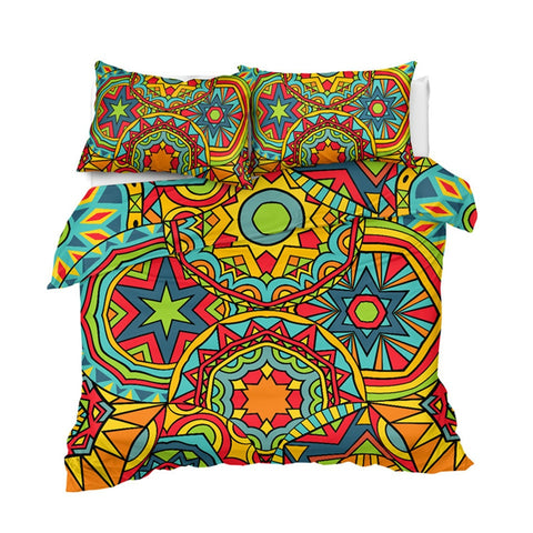 Image of Ethnic Mandala Indigo Bedding Set - Beddingify
