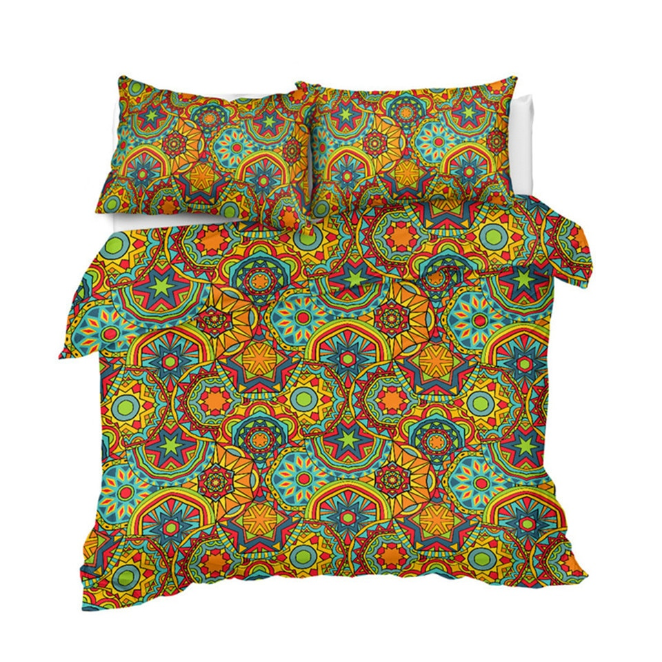 Boho Mandala Indigo Bedding Set - Beddingify