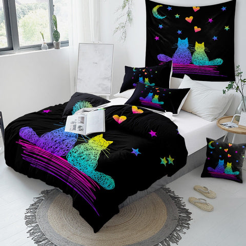 Image of Love Of Cats Bedding Set - Beddingify