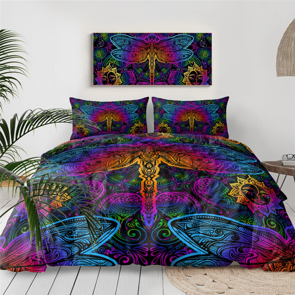 Paisley Dragonfly Bedding Set - Beddingify