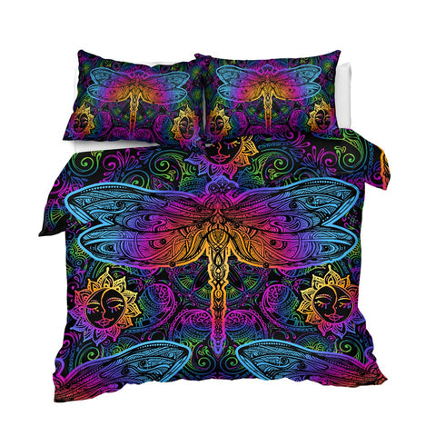 Image of Paisley Dragonfly Bedding Set - Beddingify
