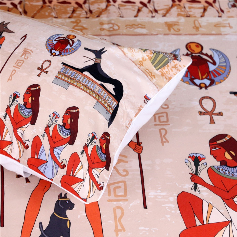 Ancient Egypt Civilization Bedding Set - Beddingify